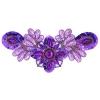 Motif Sequin/beaded 26x12cm Purple Combo 1/2 Matte